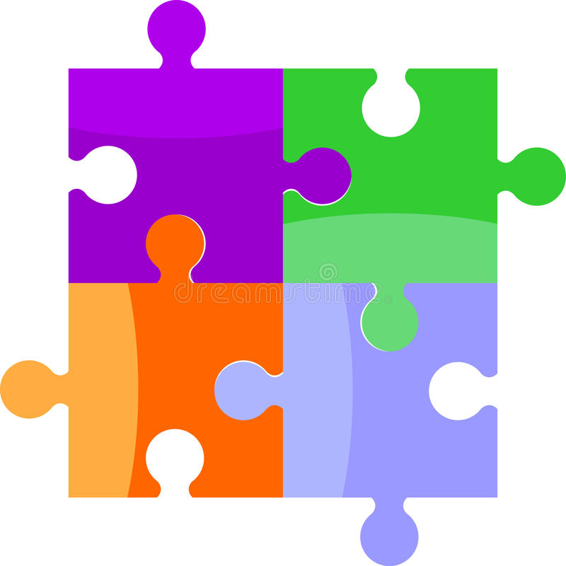 Download Puzzle stock vector. Illustration of piece, link, idea - 25661545