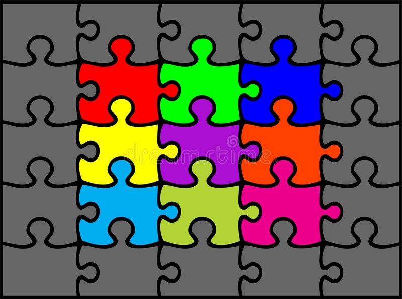 Puzzle illustrazione di stock