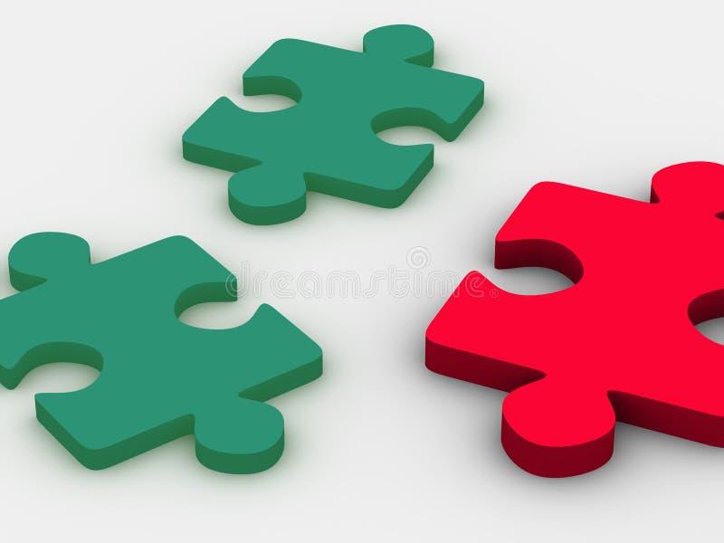 Puzzle. illustrazione vettoriale