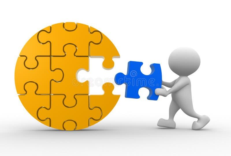 Download Puzzle stock illustration. Illustration of figure, link - 28427233