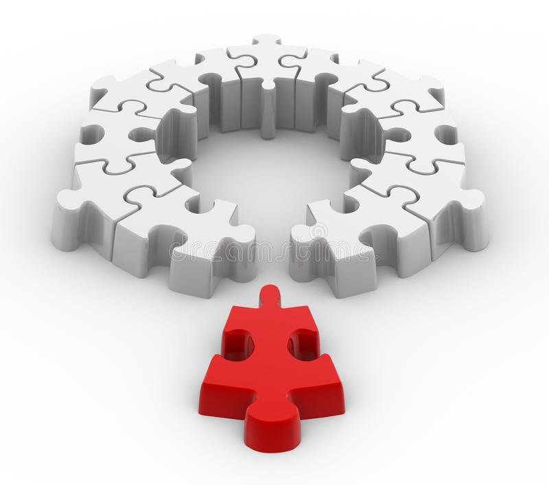 Puzzle illustrazione di stock immagine di metafora - Collegamento stampabile un puzzle pix ...