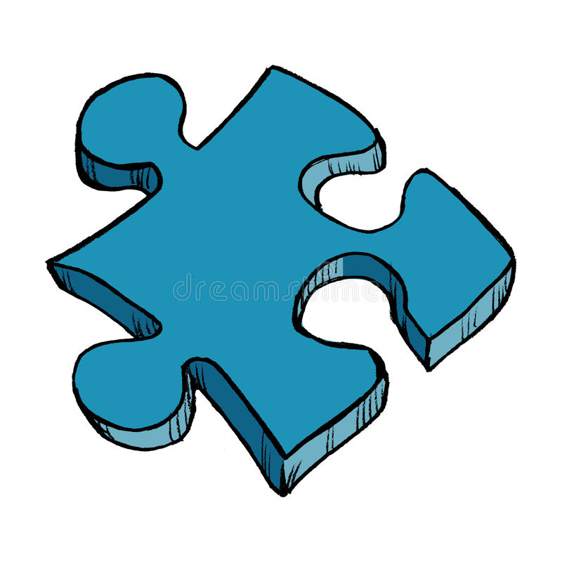 Download Puzzle stock vector. Image of drawn, illustration, design - 29065283