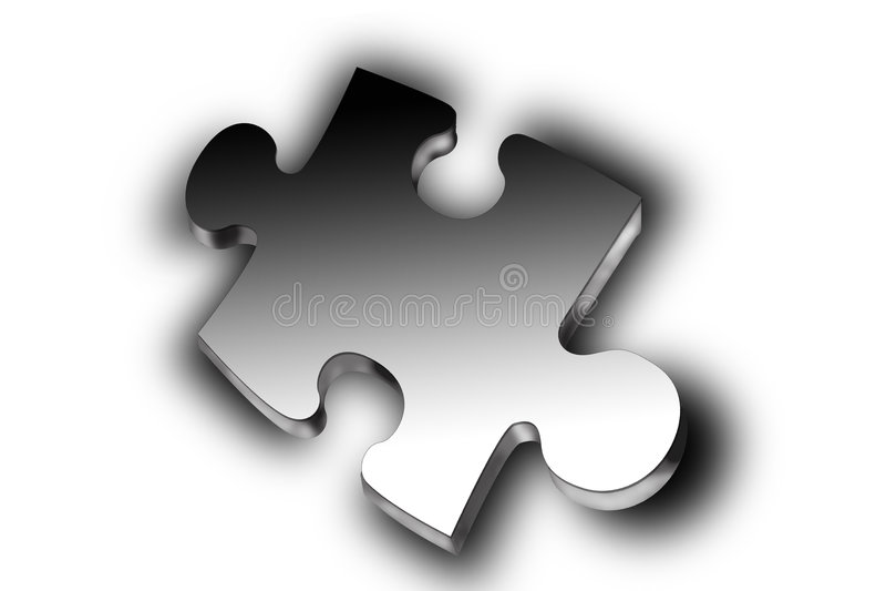 puzzle 3 d royalty ilustracja