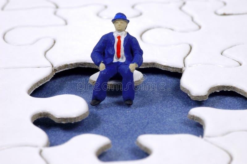 Puzzle 3 d'affaires photo libre de droits