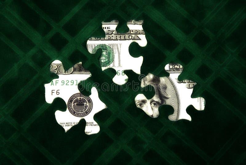 Puzzle 3 d'argent photos stock