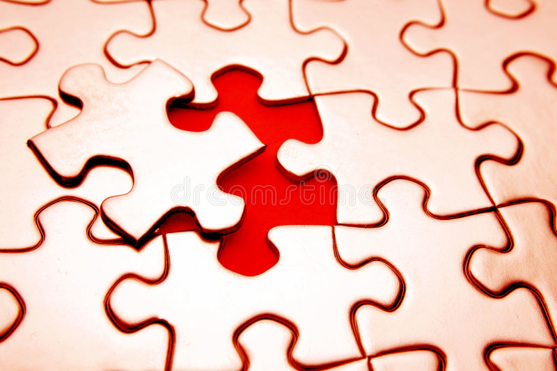 puzzle obrazy stock