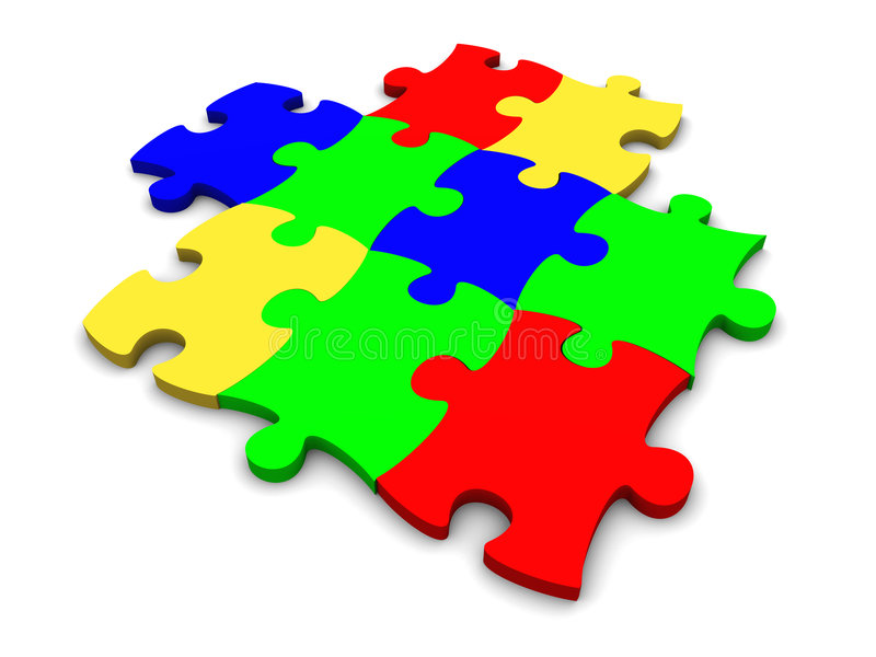 puzzle ilustracji