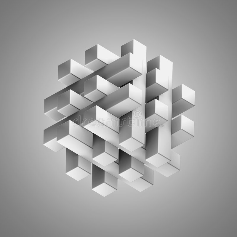 puzzle 3D illustration stock