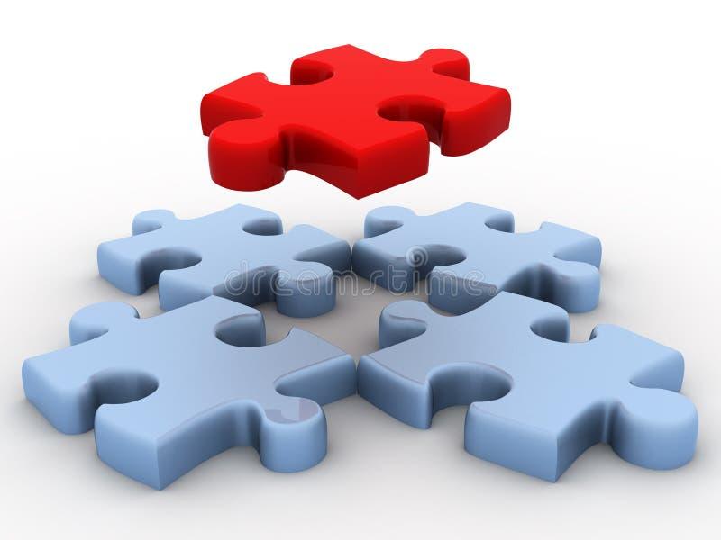 puzzle 3d illustration de vecteur