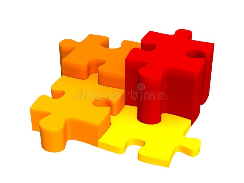 puzzle 3d royalty illustrazione gratis