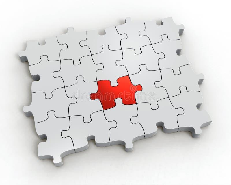 puzzle 3d d'isolement sur le fond blanc. photos stock