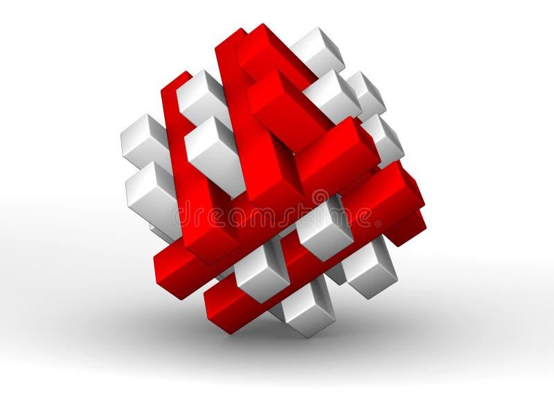puzzle 3D - résolu illustration de vecteur