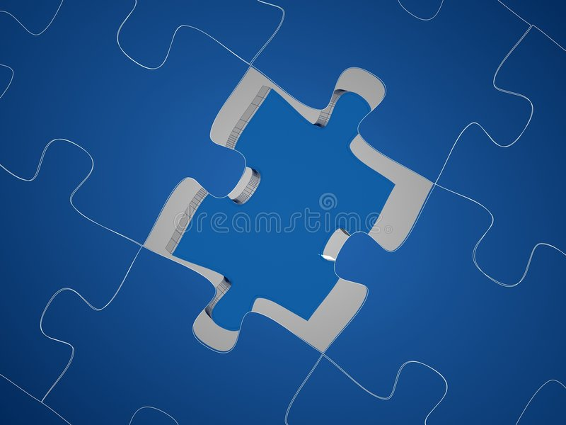 Download Puzzle 3D render stock photo. Image of render, missing - 1615722