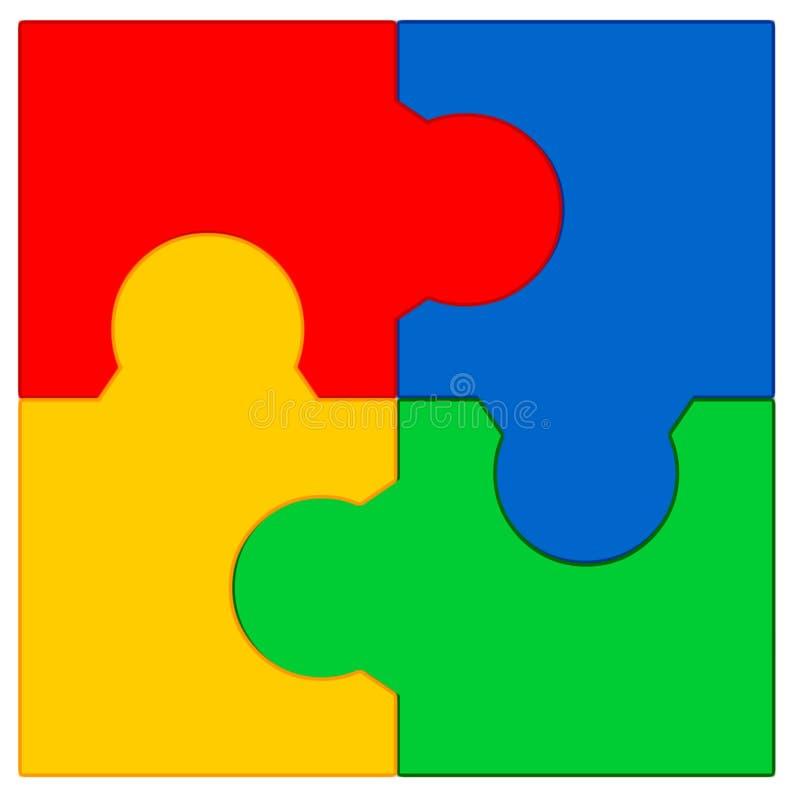 Puzzle #4 illustrazione di stock