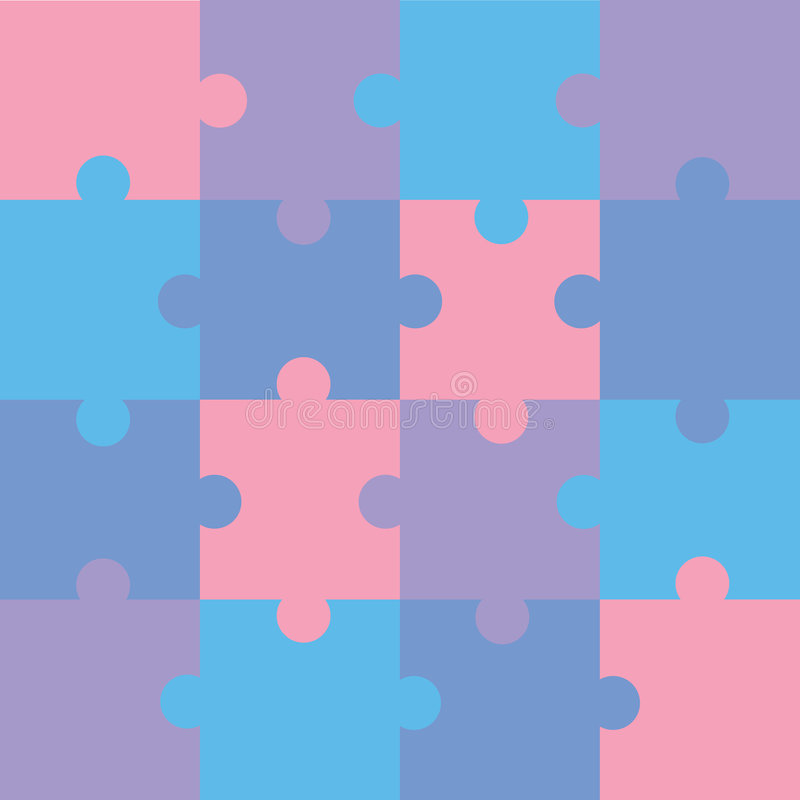 Puzzle illustration stock