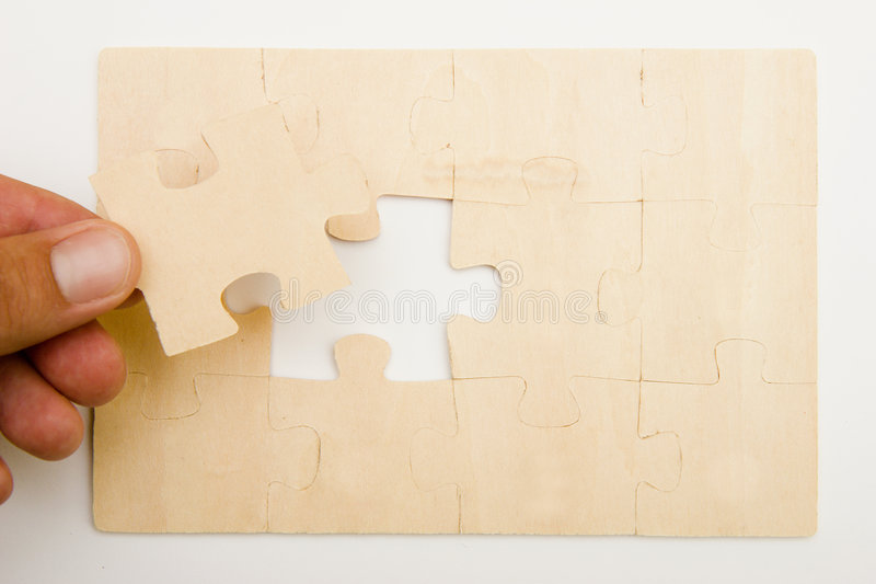 Download Puzzle stock photo. Image of isolated, twelve, pieces - 5836510