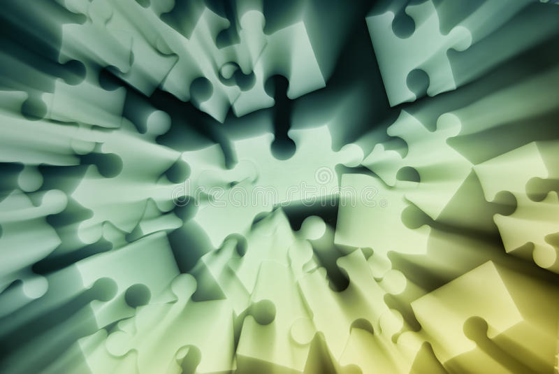 Puzzle abstract. Unusually colored zoom-effect puzzle abstract royalty free stock photo