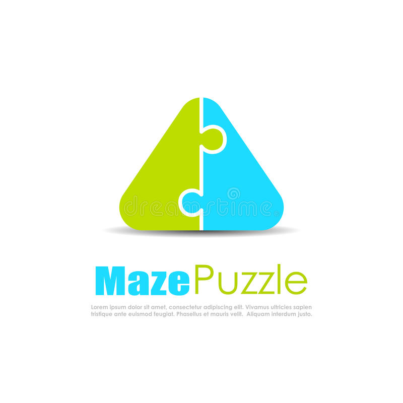 Puzzle abstract vector logo vector illustration