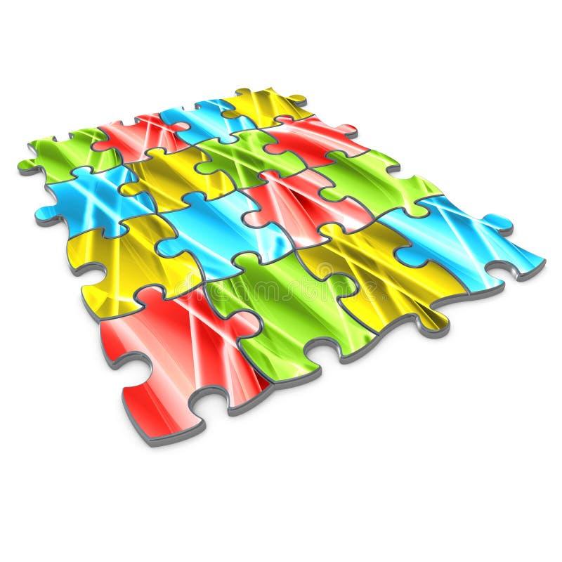 Puzzle abstrait illustration stock