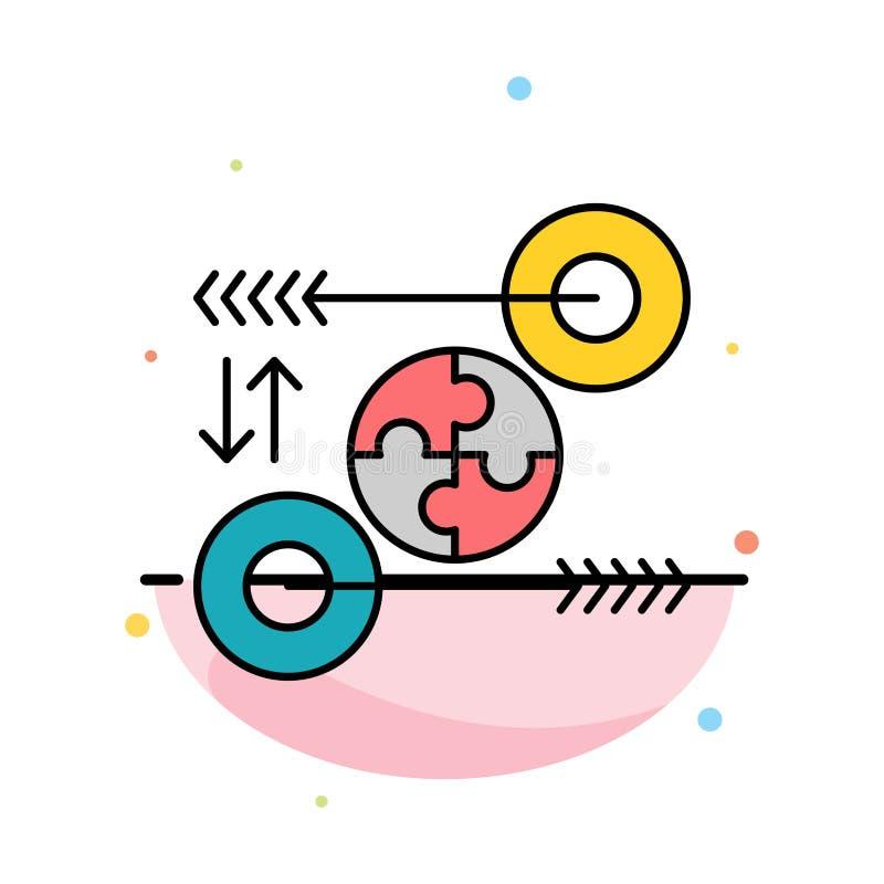 Puzzle, affaires, idée, vente, calibre plat abstrait pertinent d'icône de couleur illustration de vecteur