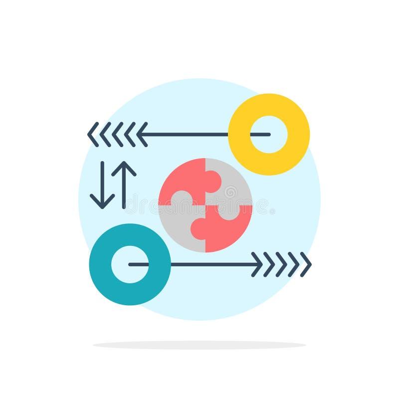 Puzzle, affaires, idée, vente, icône plate de couleur de fond abstrait pertinent de cercle illustration libre de droits