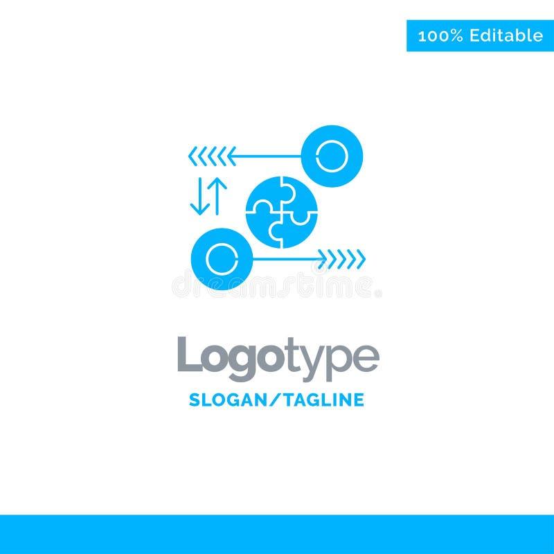 Puzzle, affaires, idée, vente, Logo Template solide bleu pertinent Endroit pour le Tagline illustration stock