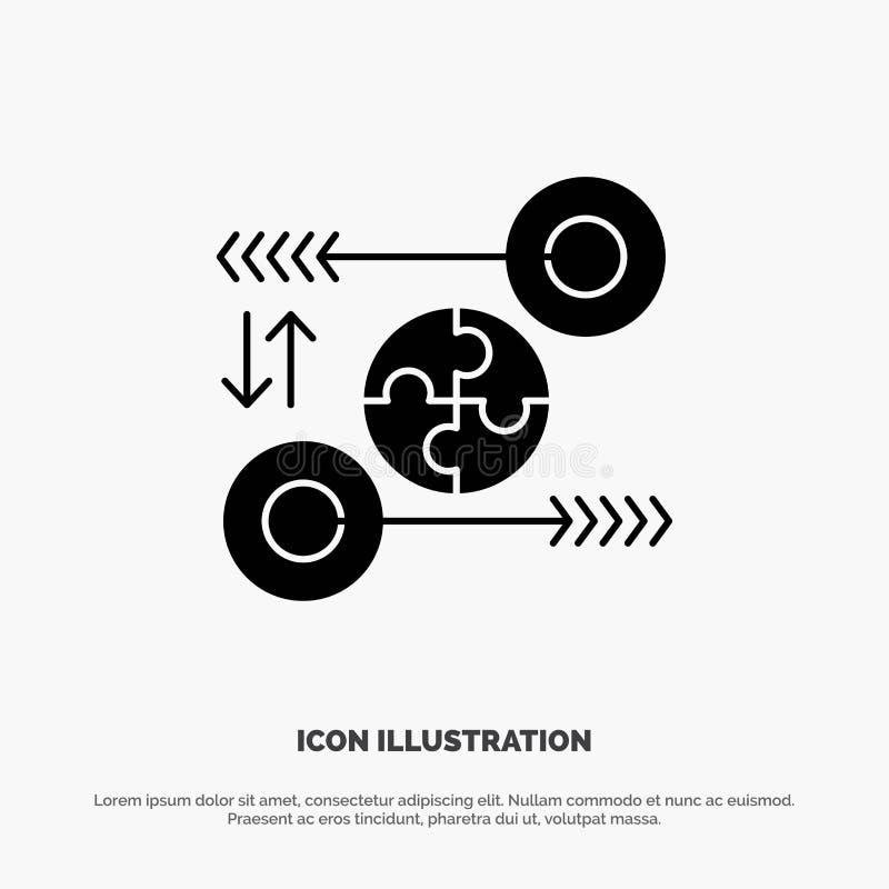 Puzzle, affaires, idée, vente, vecteur solide pertinent d'icône de Glyph illustration libre de droits