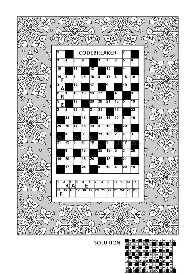 Free Puzzle And Coloring Activity Page For Adults Royalty Free Stock Photography - 127029697