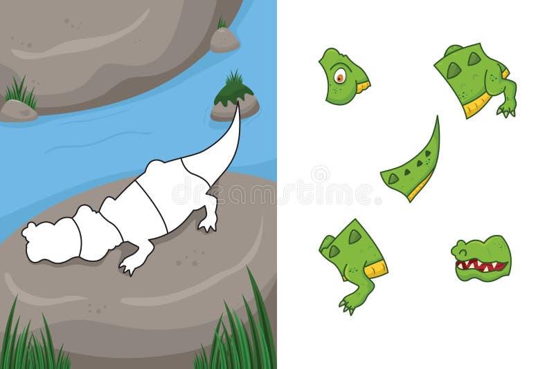 Puzzle animal illustration stock