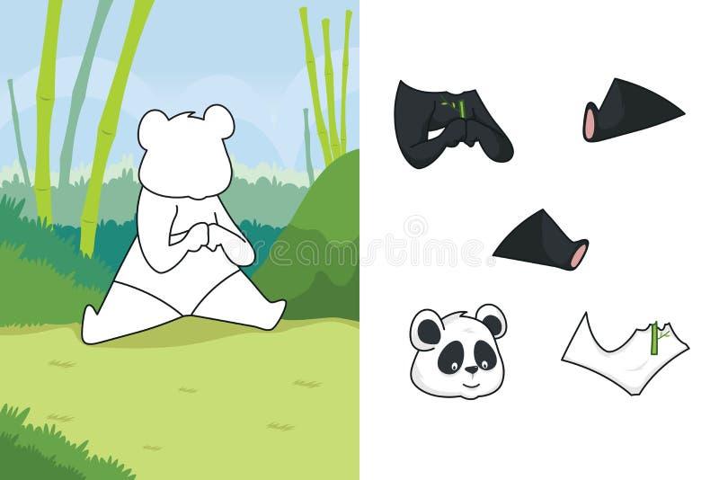 Puzzle animale illustrazione vettoriale