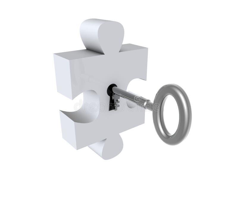 Puzzle avec la clé illustration de vecteur