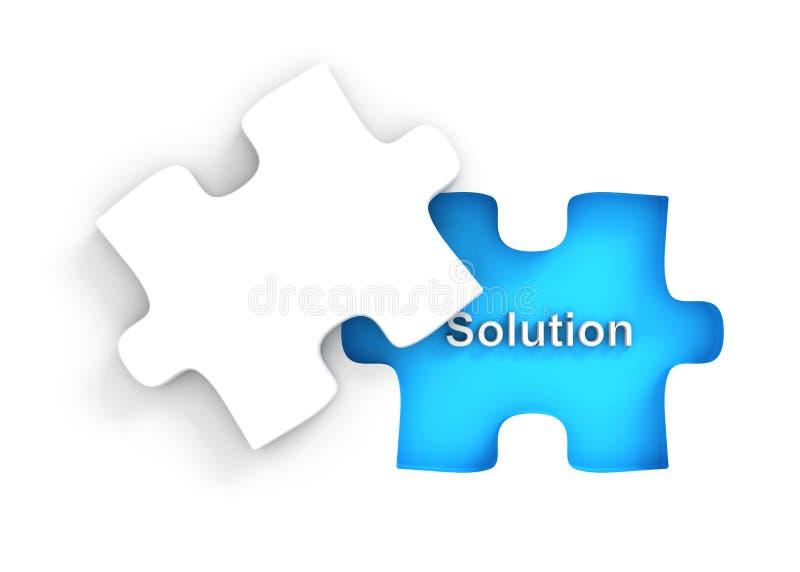 Puzzle avec la partie manquante illustration de vecteur