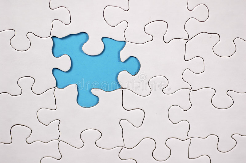 Puzzle avec le fond bleu-clair illustration de vecteur