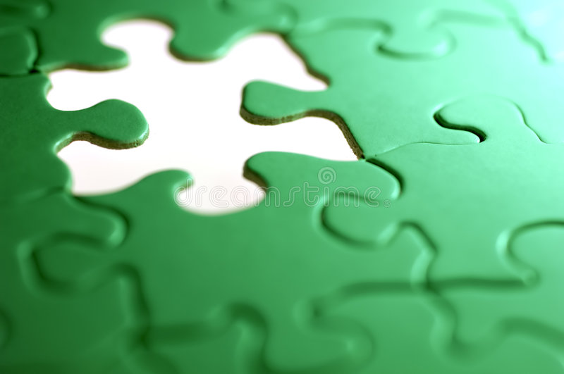 Puzzle Background. Photo of a Puzzle With a Missing Piece royalty free stock image