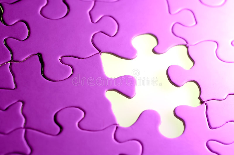 Puzzle Background. Photo of a Puzzle With a Missing Piece stock images