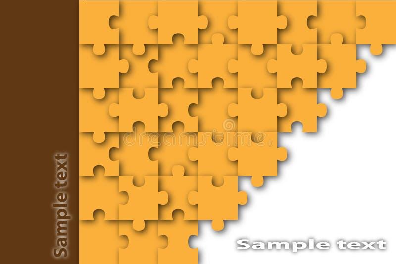 Puzzle background stock illustration