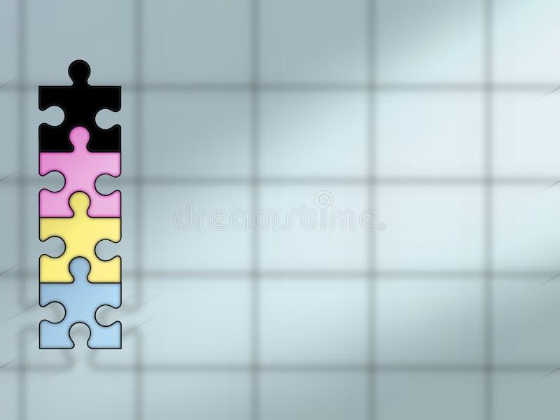 Puzzle background - CYMK stock illustration
