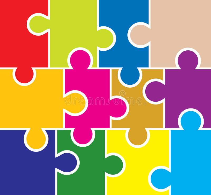 Puzzle background, elements for design, vector royalty free illustration