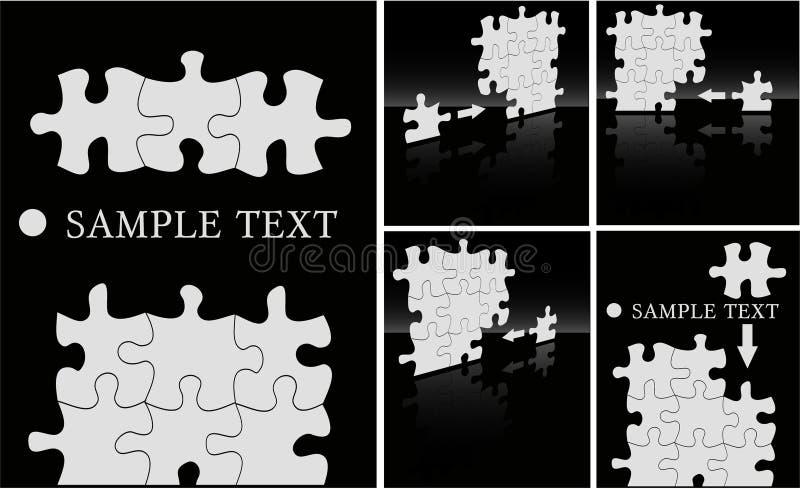 Puzzle backgrounds royalty free illustration