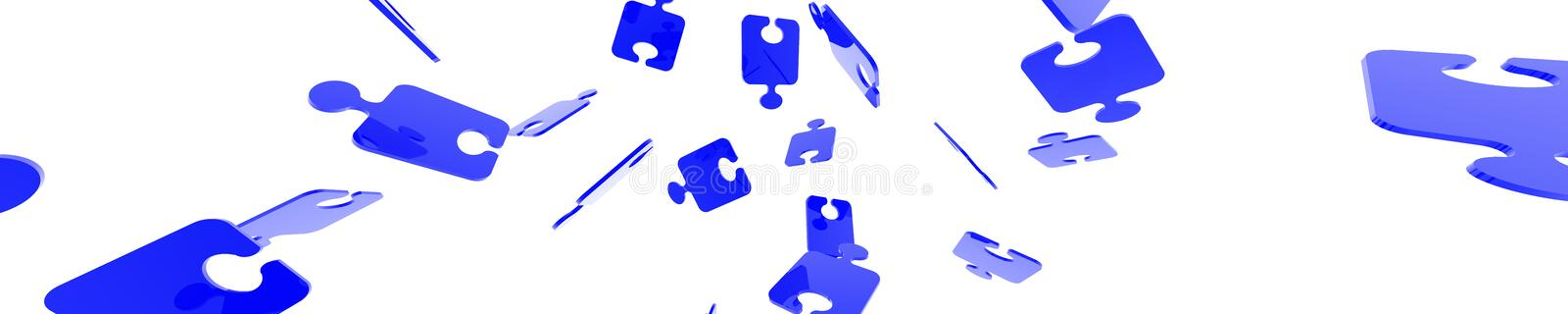Puzzle Banner Royalty Free Stock Photography