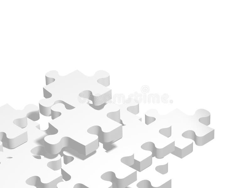 Puzzle bianco illustrazione vettoriale