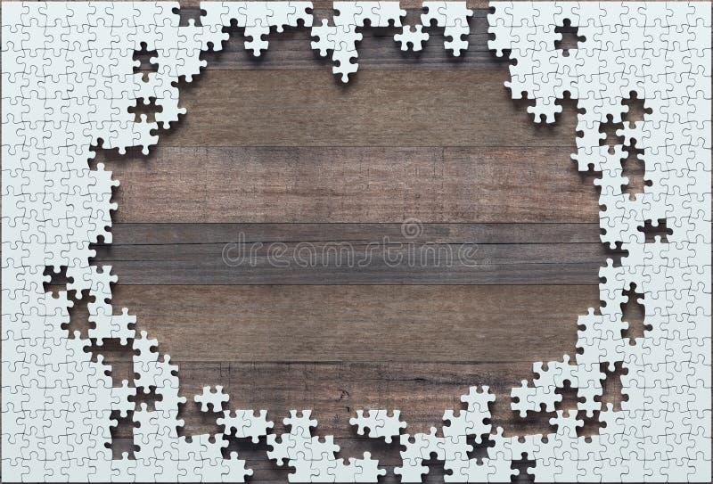 Puzzle in bianco non finito royalty illustrazione gratis