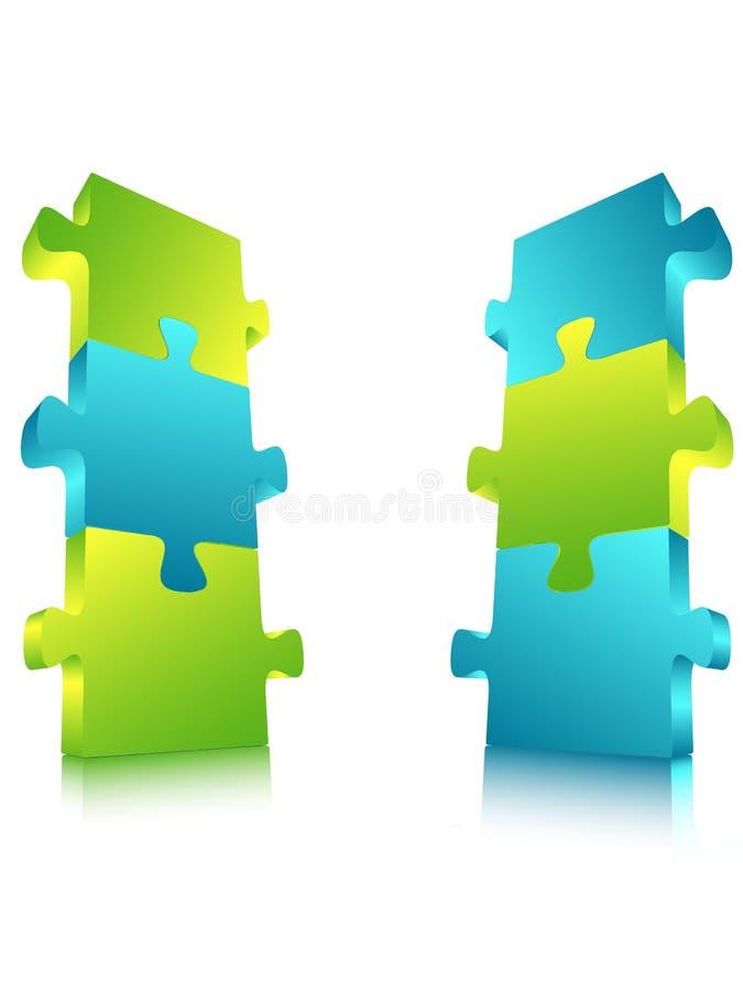 Download Puzzle billboard stock illustration. Image of dollar - 42135814