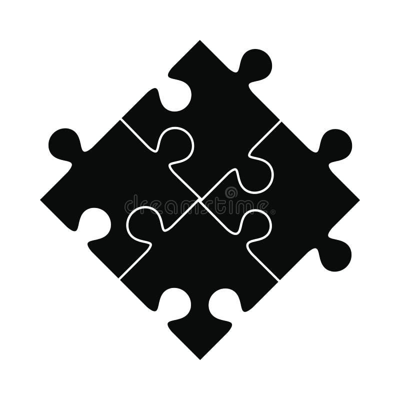 Puzzle black simple icon royalty free illustration