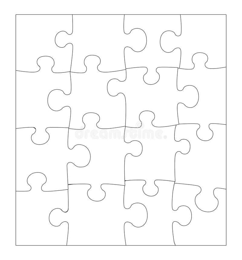 Puzzle blanc illustration libre de droits