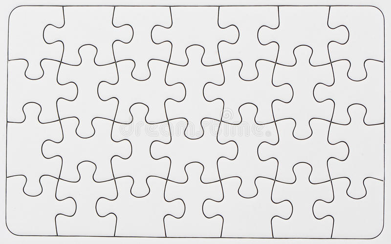 Puzzle blanc photographie stock