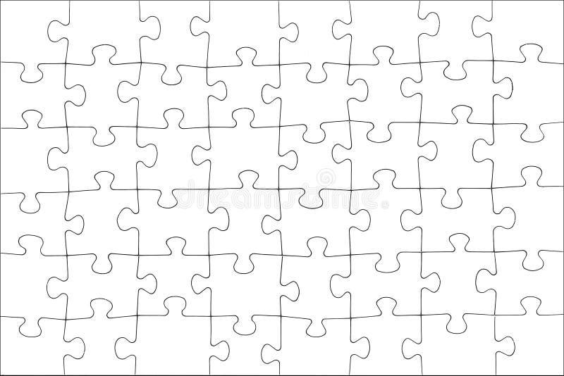 Puzzle blanc photos libres de droits