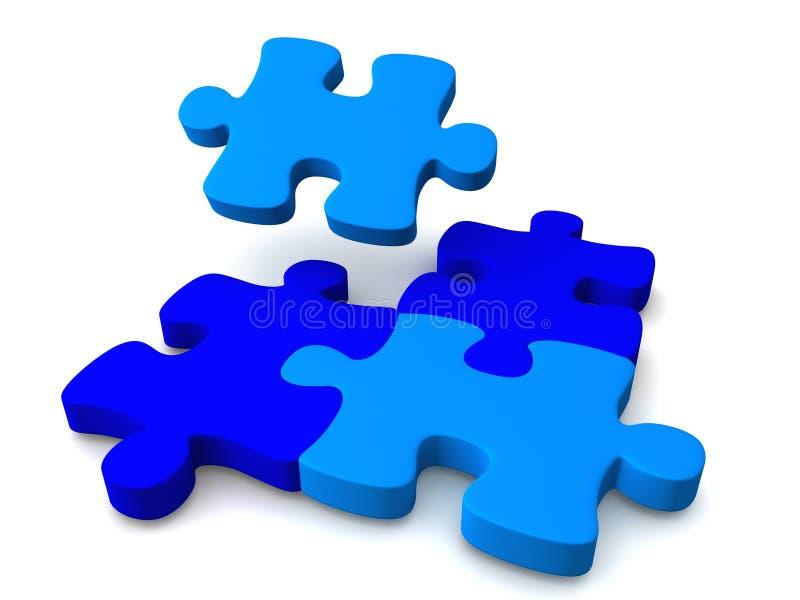 Puzzle bleu illustration stock