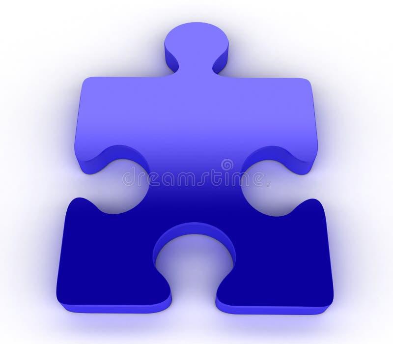 Puzzle blu del puzzle royalty illustrazione gratis