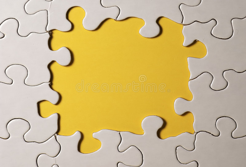 Puzzle Border royalty free stock photos
